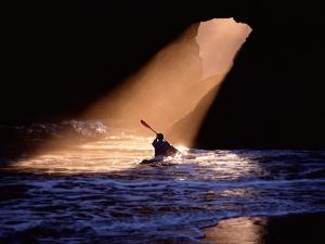 Kayaker seeking the light