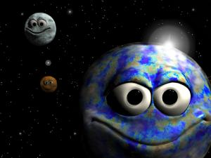 3D smiling planets
