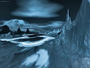 Extraterrestrial grey landscape