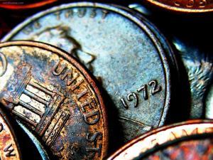Coins oxidized
