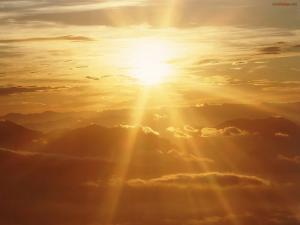 Sun shining and golden