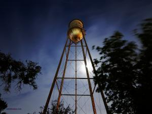 Water tower night view