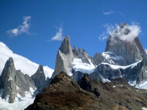 Monte Fitz Roy in Patagonian (between Argentina and Chile)