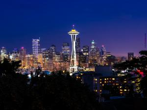 Seattle (Washington) at night