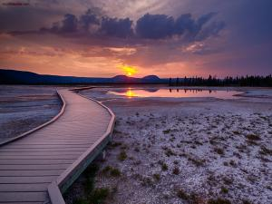 Sunset in the Yellowstone National Park (United States)