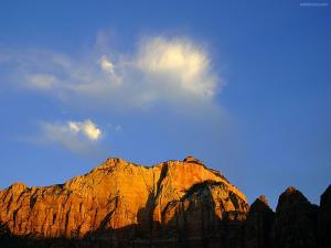 Cloud over mountain