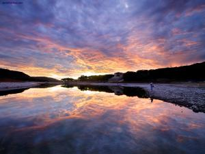 Fishing in the Lake Travis (Austin, Texas)