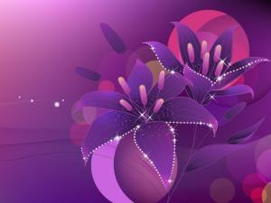 Purple bright flowers