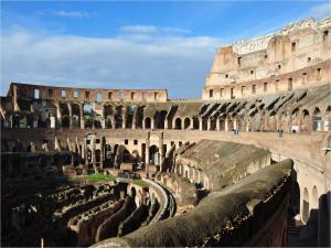 Visiting the interior of the Roman Colosseum
