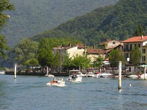 Strait of Lavena (Lake Lugano, Switzerland)