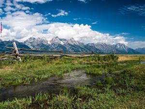 Teton Range, in the Rocky Mountains (Wyoming)
