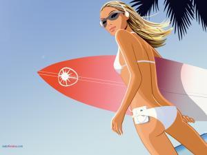 Surfer woman