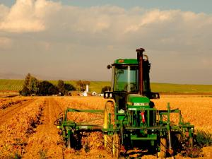 Agricultural machinery to work in the field