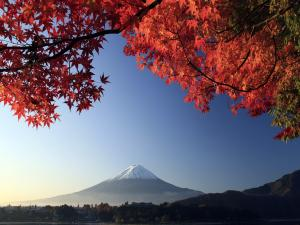 Panorama of Mount Fuji, in Japan