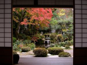 Garden views from a classic japanese house