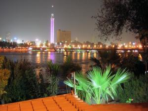 Cairo Tower (Egypt) at night