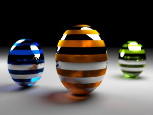 3D spheres with color lines