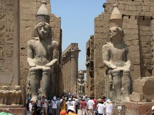 Entrance of Luxor Temple (Egypt)