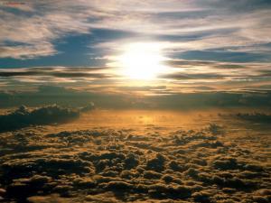 The Sun over a cloud ceiling
