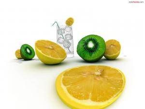 Lemons and kiwi fruits