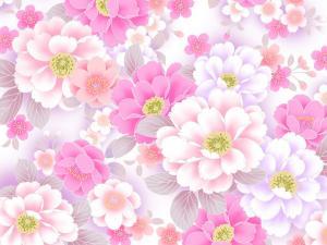 Rain of pink flowers