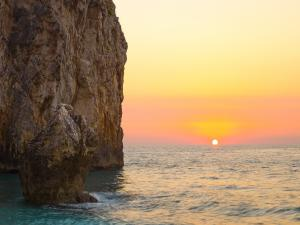 Sunset on the island of Lefkada (Greece)