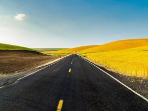 Countryside and asphalt