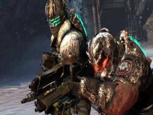 Isaac Clarke and Sergeant John Carver in Dead Space 3