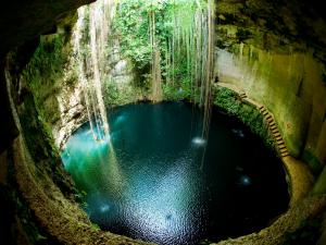 Ik Kil natural well in Chichen Itza, Mexico