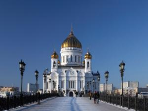 Cathedral Of Christ The Saviour In Moscow Russian Orthodox Church