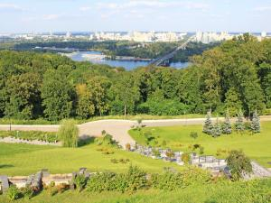 Panoramic view of green areas in the city of Kiev (Ukraine)