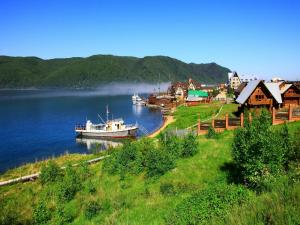 Locality of Listvyanka, in the Baikal lakeside (Russia)