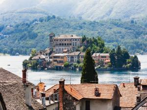 San Giulio island in Lake Orta (Italy)