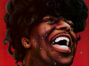 Caricature of Little Richard (singer, composer and pianist of rock and roll)