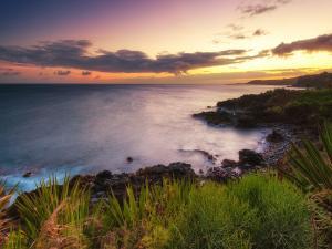 Sunset on the coast of Kauai (Hawaiian Islands)