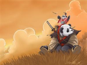 Samurai pandas