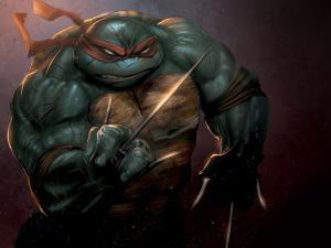 Furious ninja turtle