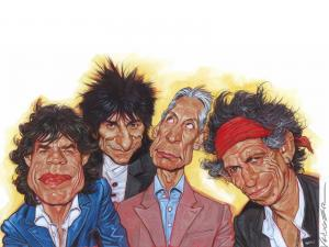 Caricature of The Rolling Stones