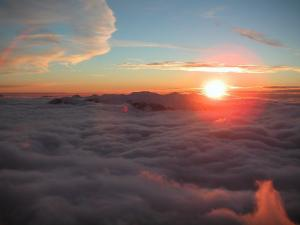 The sun above the clouds