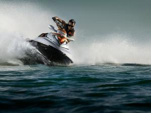Driving a jet ski