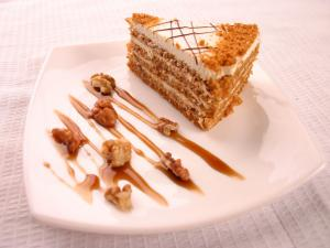 Nuts and caramel cake