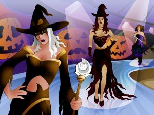 Runway of witches for Halloween