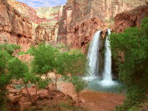 Havasu Falls, in the Grand Canyon, Arizona