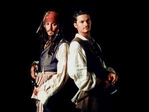 "Orlando Bloom and Johnny Depp in ""Pirates of the Caribbean"""