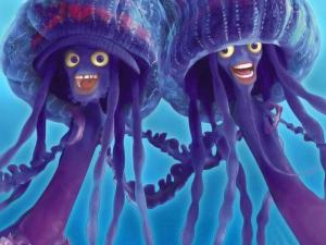 The jellyfishes Ernie and Bernie (Shark Tale)