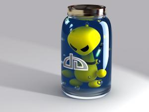 Alien into a bottle