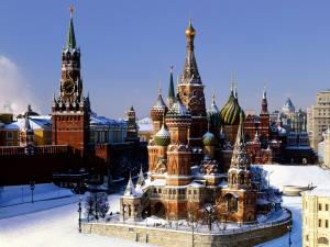 The Saint Basil's Cathedral in the Red Square in Moscow (Russia)