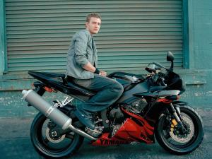 Justin Timberlake in motorcycle