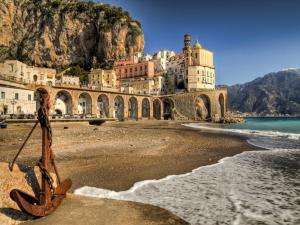 Beach in Atrani, Coast of Amalfi (Italy)