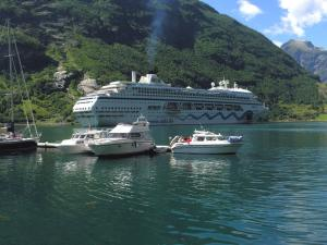 Watercrafts in Geirangerfjord (Norway)